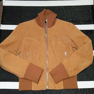 Divided Tan Corduroy Bomber Jacket Size 10